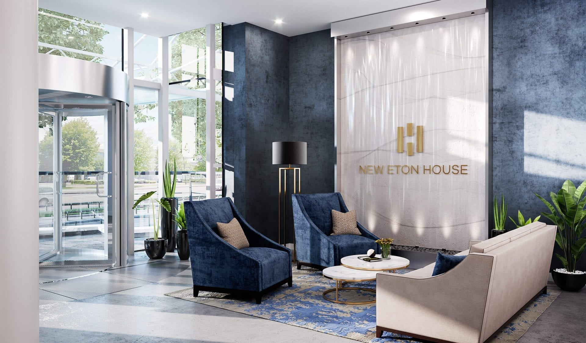 Lobby New Eton House - luxury apartments in Slough