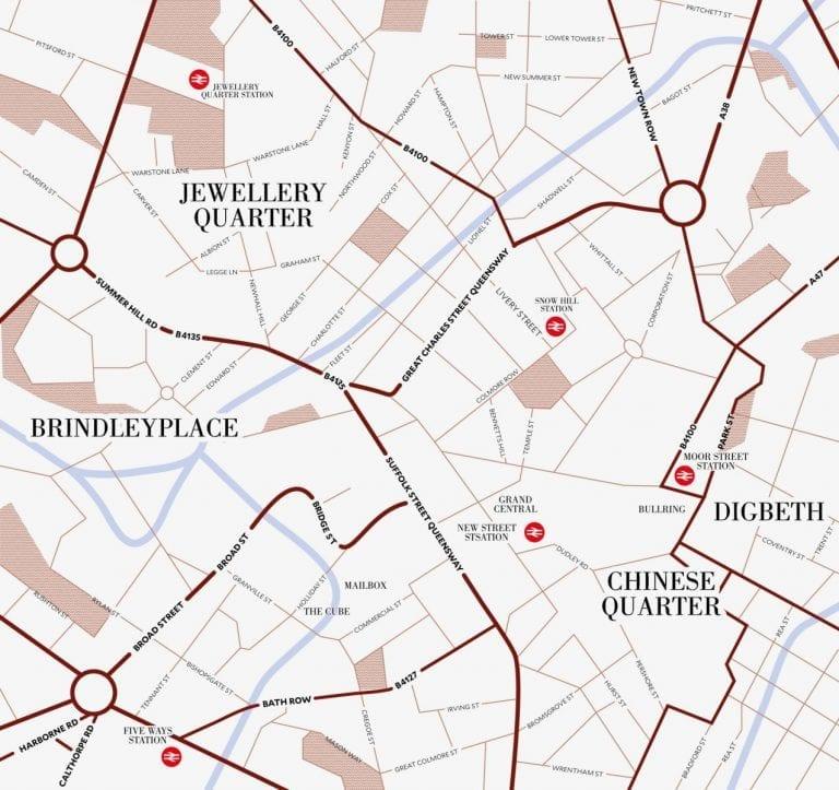 Birmingham map of investment