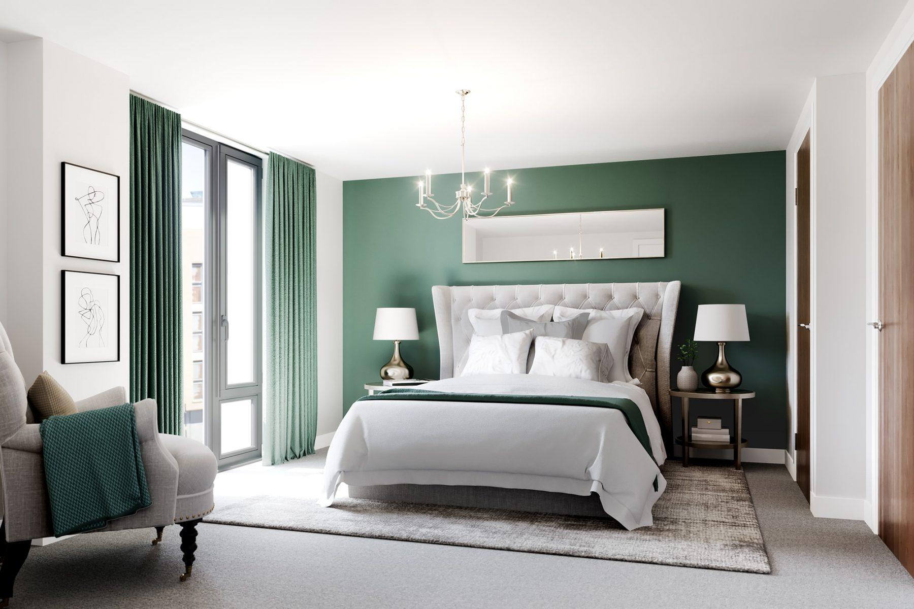 Apartment bedroom Birmingham