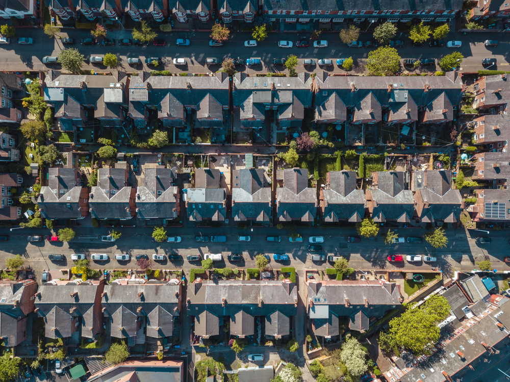 Ariel View of Houses