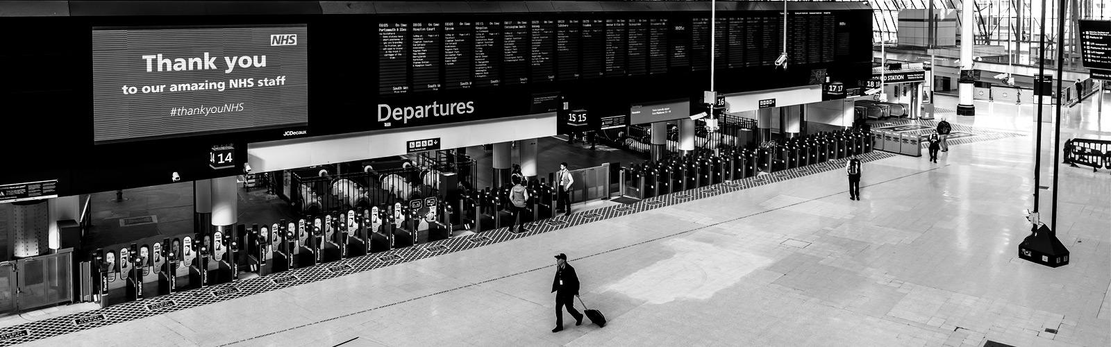UK Lockdown Train Station